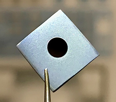Image of microresonator from Vahala group collaboration